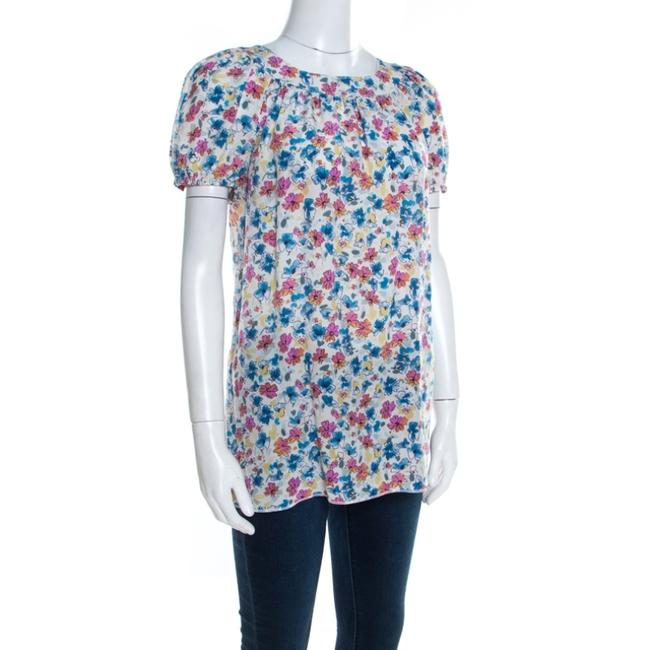 Dolce&Gabbana Floral Sleeve Silk Top White Image 2