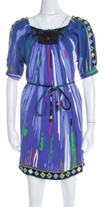 Multicolor Maxi Dress by Emilio Pucci Silk Embellished Belted