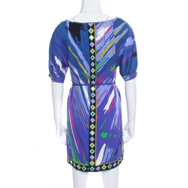 Multicolor Maxi Dress by Emilio Pucci Silk Embellished Belted Image 1