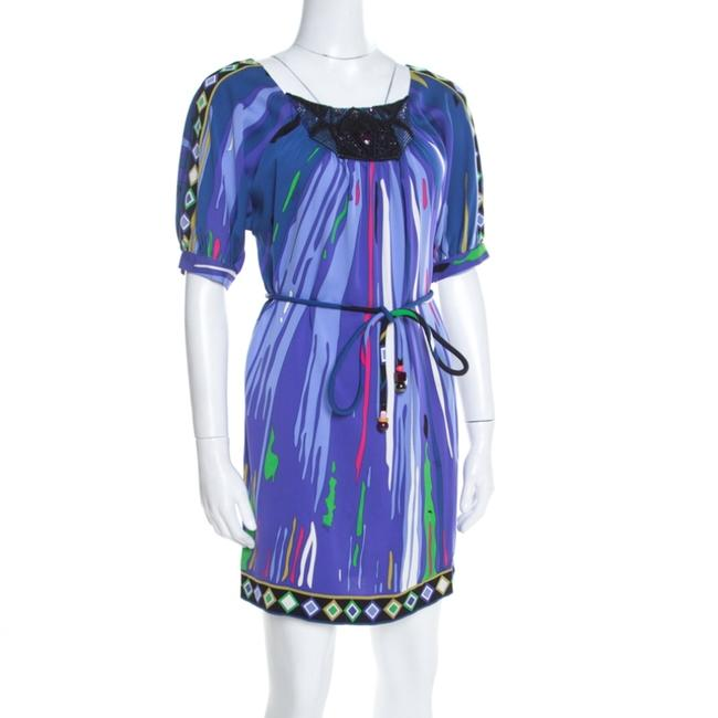 Multicolor Maxi Dress by Emilio Pucci Silk Embellished Belted Image 2