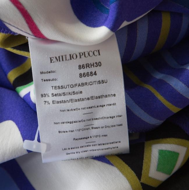 Multicolor Maxi Dress by Emilio Pucci Silk Embellished Belted Image 4