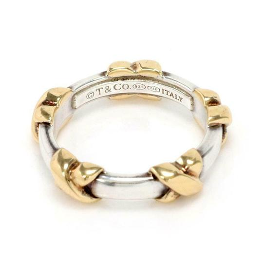 Tiffany Sterling Sterling 18k Yellow Gold X Band Ring Image 2