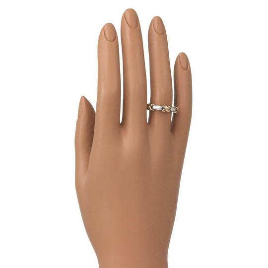 Tiffany Sterling Sterling 18k Yellow Gold X Band Ring Image 3
