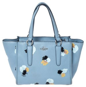 Coach Leather Fabric Tote in Blue