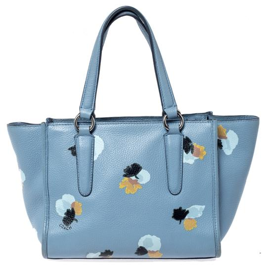 Coach Leather Fabric Tote in Blue Image 1