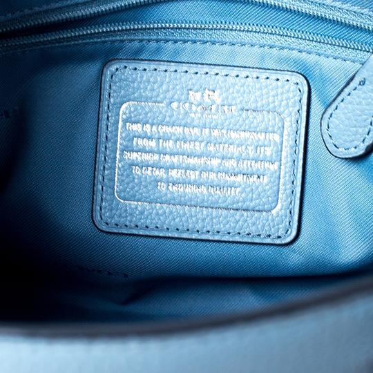 Coach Leather Fabric Tote in Blue Image 10
