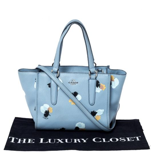 Coach Leather Fabric Tote in Blue Image 11
