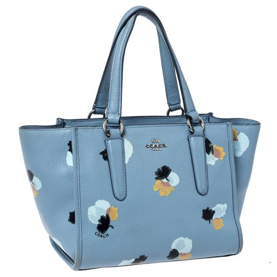 Coach Leather Fabric Tote in Blue Image 3
