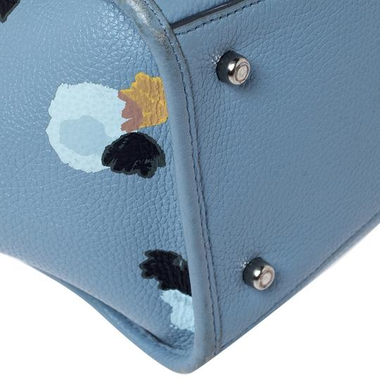 Coach Leather Fabric Tote in Blue Image 6