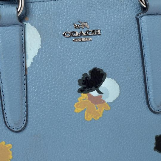 Coach Leather Fabric Tote in Blue Image 8