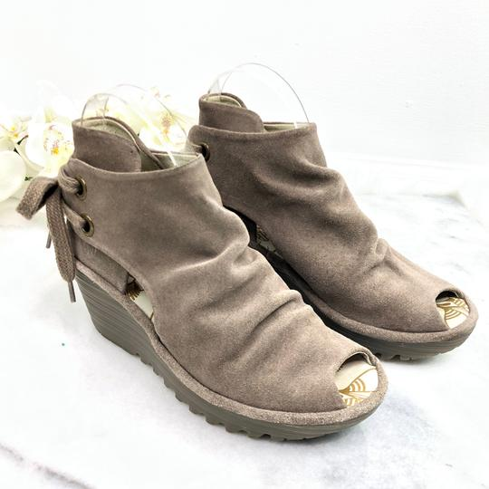 FLY London Taupe Boots Image 4