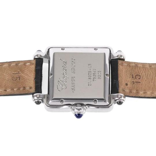 Chopard Happy Sport Diamond Sapphire SSteel Leather Band Ladies Watch Image 4