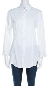 Burberry Cotton Longsleeve Button Top White