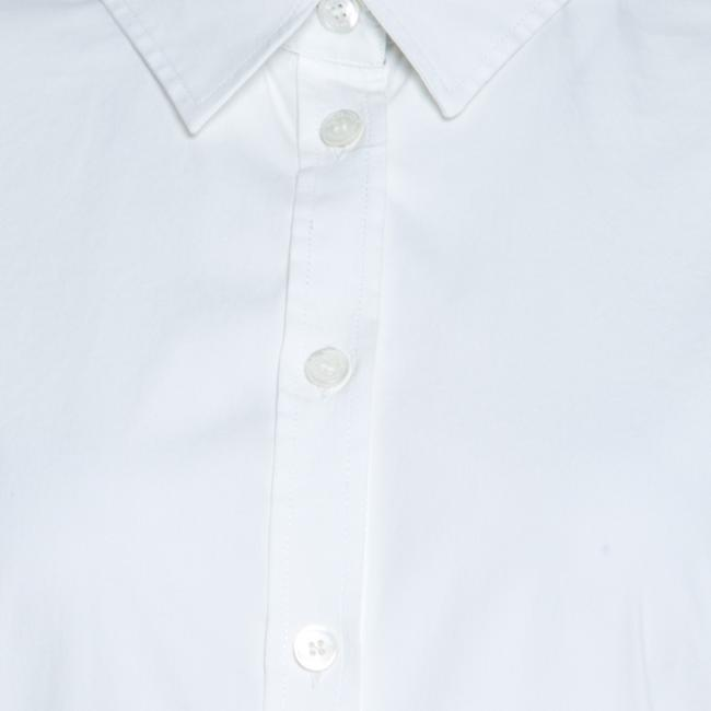 Burberry Cotton Longsleeve Button Top White Image 3