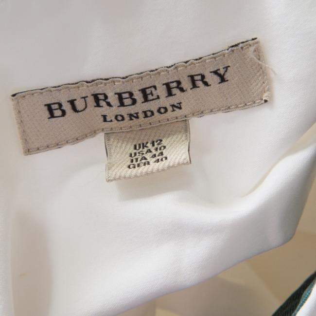Burberry Cotton Longsleeve Button Top White Image 4