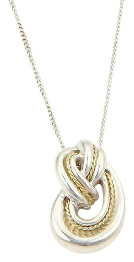 Preload https://img-static.tradesy.com/item/26283840/tiffany-and-co-61410-vintage-925-sterling-18k-yellow-gold-love-knot-pendant-necklace-0-1-540-540.jpg