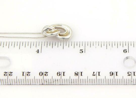 Tiffany Vintage 925 Sterling 18k Yellow Gold Love Knot Pendant Necklace Image 4