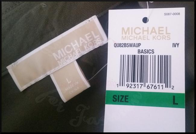 MICHAEL Michael Kors Rounded Collar Flap/Slant Button-down Closure Tab Cuffs Gold Hardware Military Jacket Image 4