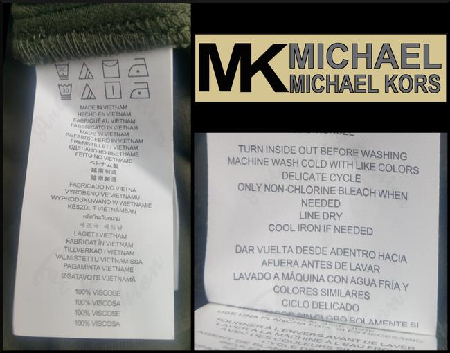 MICHAEL Michael Kors Rounded Collar Flap/Slant Button-down Closure Tab Cuffs Gold Hardware Military Jacket Image 8