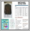 MICHAEL Michael Kors Rounded Collar Flap/Slant Button-down Closure Tab Cuffs Gold Hardware Military Jacket Image 9