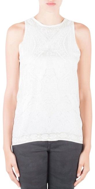 Preload https://img-static.tradesy.com/item/26283877/roberto-cavalli-white-off-mixed-media-printed-racer-back-tank-m-blouse-size-10-m-0-1-650-650.jpg
