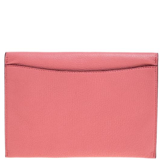 Burberry Leather Pink Clutch Image 1