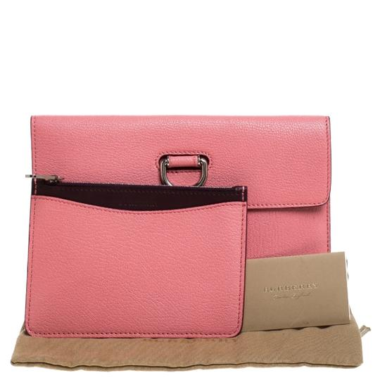 Burberry Leather Pink Clutch Image 10