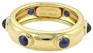 Tiffany & Co. Cabochon Sapphire 18k Yellow Gold Dome Band Ring
