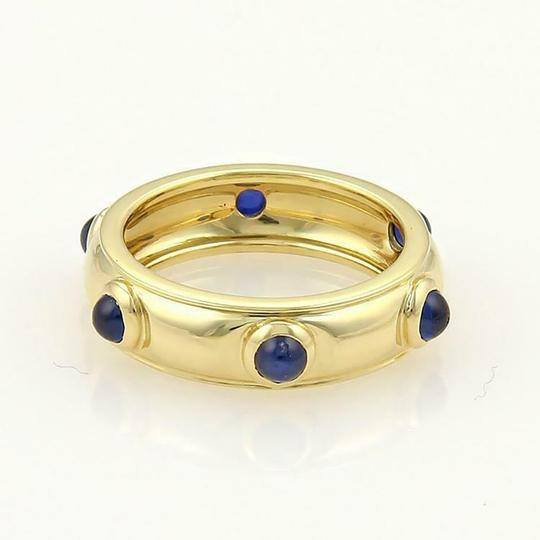 Tiffany & Co. Cabochon Sapphire 18k Yellow Gold Dome Band Ring Image 2