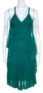Green Maxi Dress by Chanel Detail Perforated Draped