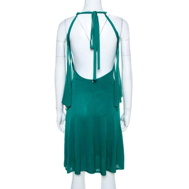 Green Maxi Dress by Chanel Detail Perforated Draped Image 1