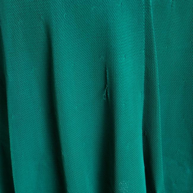 Green Maxi Dress by Chanel Detail Perforated Draped Image 10