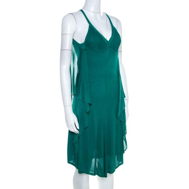 Green Maxi Dress by Chanel Detail Perforated Draped Image 2
