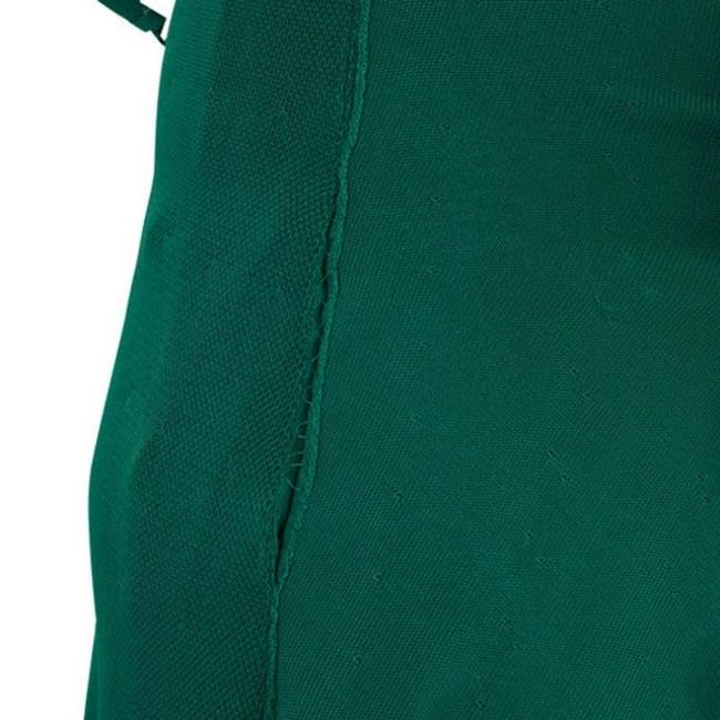 Green Maxi Dress by Chanel Detail Perforated Draped Image 3