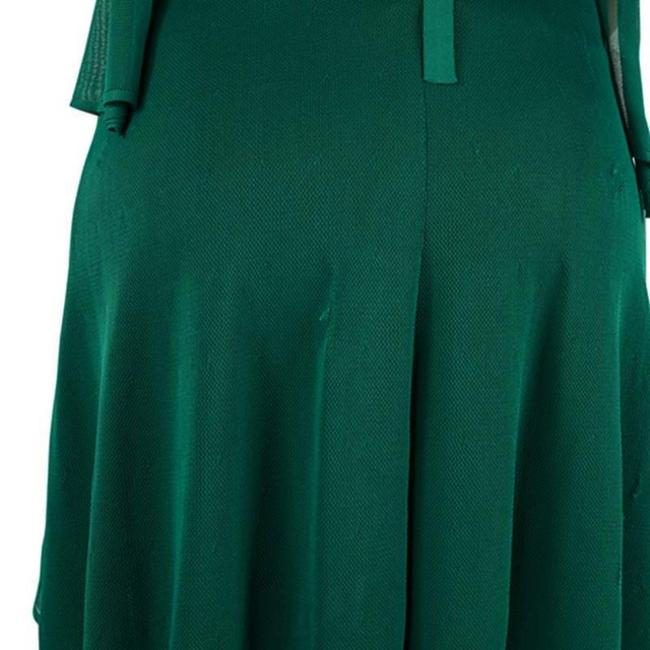 Green Maxi Dress by Chanel Detail Perforated Draped Image 4