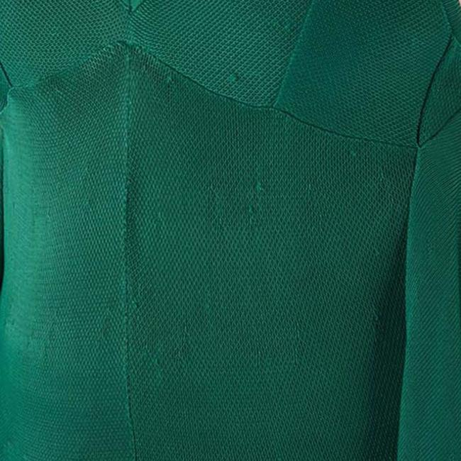 Green Maxi Dress by Chanel Detail Perforated Draped Image 5