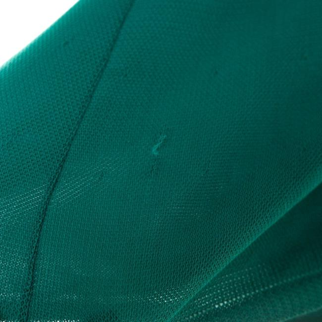 Green Maxi Dress by Chanel Detail Perforated Draped Image 6