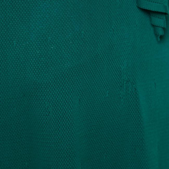 Green Maxi Dress by Chanel Detail Perforated Draped Image 8