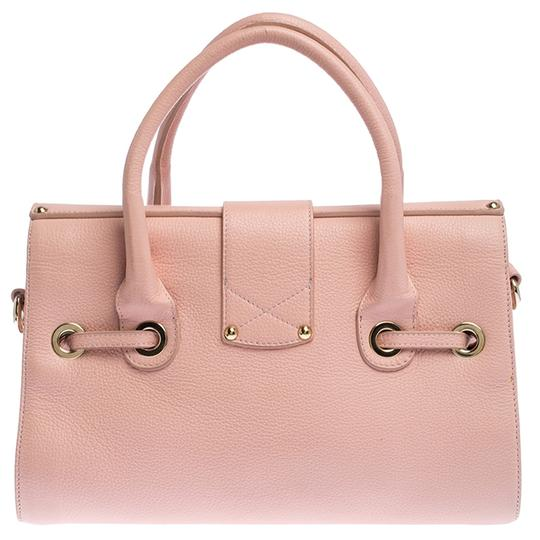Jimmy Choo Leather Suede Satchel in Pink Image 1