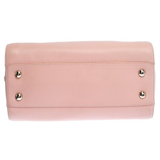 Jimmy Choo Leather Suede Satchel in Pink Image 3