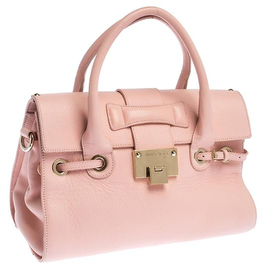 Jimmy Choo Leather Suede Satchel in Pink Image 4