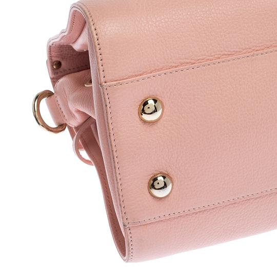Jimmy Choo Leather Suede Satchel in Pink Image 5