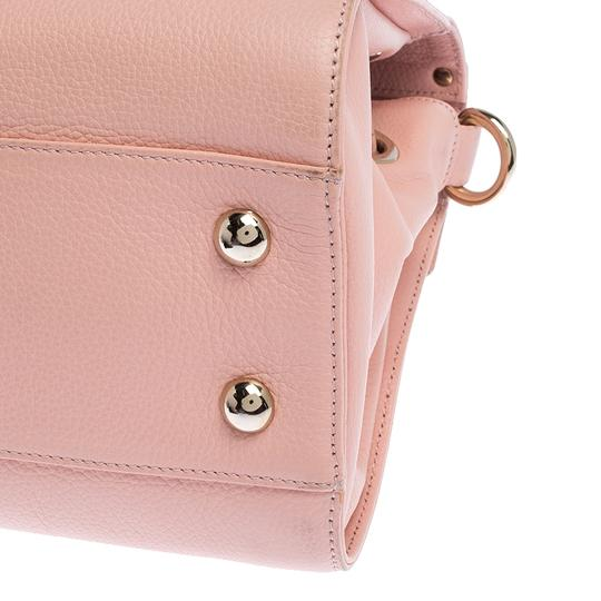Jimmy Choo Leather Suede Satchel in Pink Image 6