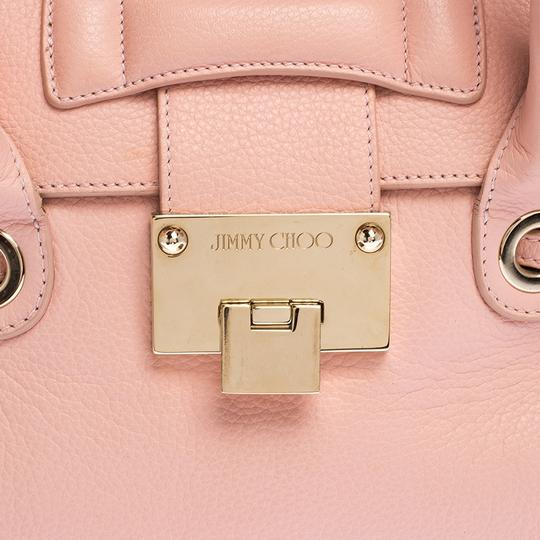 Jimmy Choo Leather Suede Satchel in Pink Image 7
