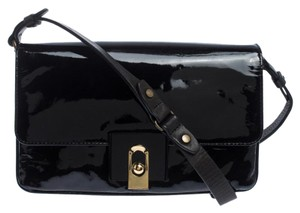Lanvin Patent Leather Fabric Shoulder Bag
