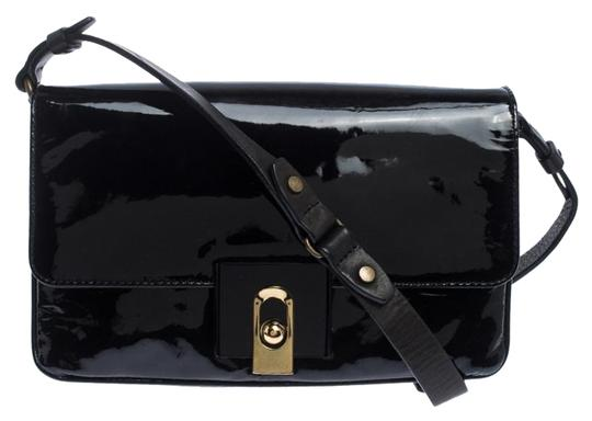Preload https://img-static.tradesy.com/item/26283953/lanvin-black-patent-leather-shoulder-bag-0-1-540-540.jpg