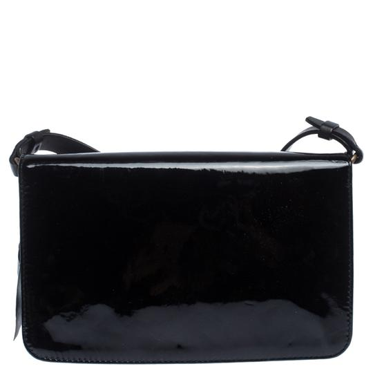 Lanvin Patent Leather Fabric Shoulder Bag Image 1