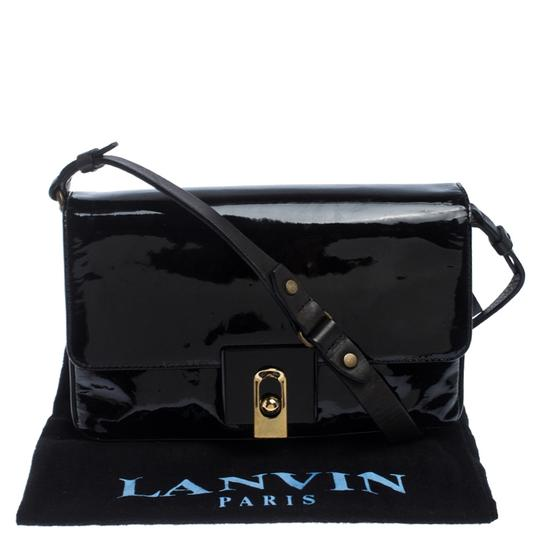 Lanvin Patent Leather Fabric Shoulder Bag Image 10