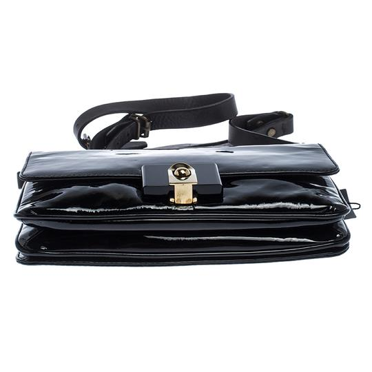 Lanvin Patent Leather Fabric Shoulder Bag Image 3