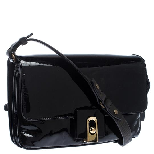 Lanvin Patent Leather Fabric Shoulder Bag Image 4
